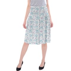 Intricate Floral Collage  Midi Beach Skirt by dflcprintsclothing