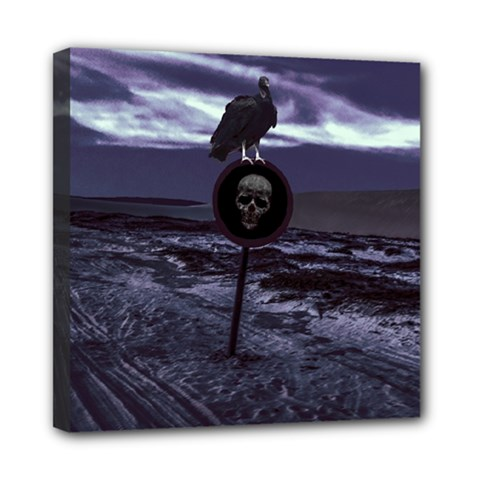 Death Road Dark Scene Mini Canvas 8  X 8  by dflcprints