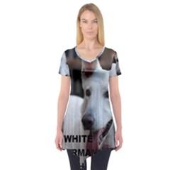 White German Shepherd Love W Pic Short Sleeve Tunic  by TailWags