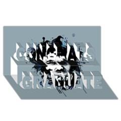 Edgar Allan Crow Congrats Graduate 3D Greeting Card (8x4) by lvbart