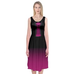 Gothic Corsage Midi Sleeveless Dress by RespawnLARPer