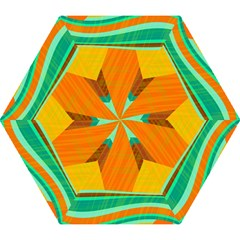 Orange And Green Landscape Mini Folding Umbrellas by Valentinaart