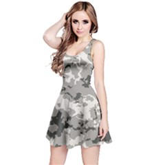 Winter Camouflage Reversible Sleeveless Dress