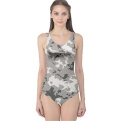 Winter Camouflage One Piece Swimsuit