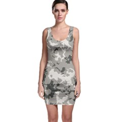 Winter Camouflage Sleeveless Bodycon Dress