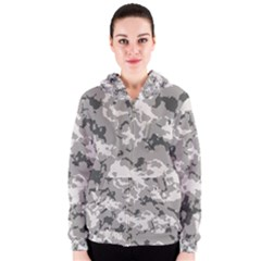 Winter Camouflage Women s Zipper Hoodie