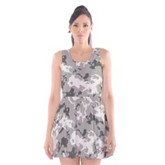 Winter Camouflage Scoop Neck Skater Dress