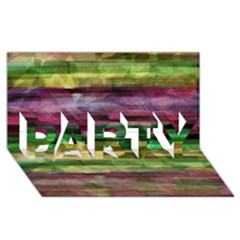 Colorful Marble Party 3d Greeting Card (8x4) by Valentinaart