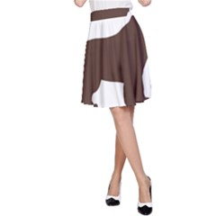 Newfie Silo Brown A-Line Skirt by TailWags
