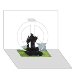 Scottish Terrier Sitting Peace Sign 3D Greeting Card (7x5) by TailWags