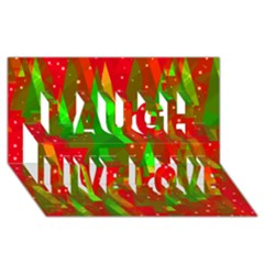 Xmas Trees Decorative Design Laugh Live Love 3d Greeting Card (8x4) by Valentinaart
