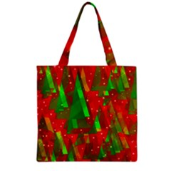 Xmas Trees Decorative Design Grocery Tote Bag by Valentinaart