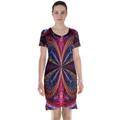3d Abstract Ring Short Sleeve Nightdress by Zeze
