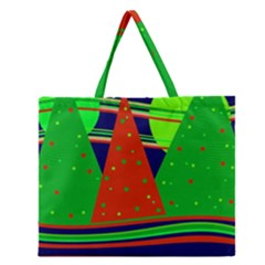 Magical Xmas Night Zipper Large Tote Bag by Valentinaart