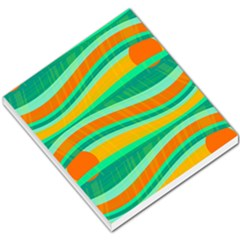 Green And Orange Decorative Design Small Memo Pads by Valentinaart