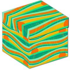Green And Orange Decorative Design Storage Stool 12   by Valentinaart