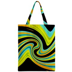 Blue And Yellow Zipper Classic Tote Bag by Valentinaart
