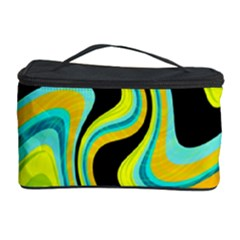 Blue And Yellow Cosmetic Storage Case by Valentinaart