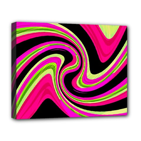 Magenta And Yellow Deluxe Canvas 20  X 16   by Valentinaart