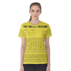Periodic Table In Yellow Women s Cotton Tee