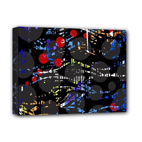 Blue Confusion Deluxe Canvas 16  X 12   by Valentinaart
