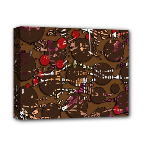 Brown confusion Deluxe Canvas 14  x 11  by Valentinaart