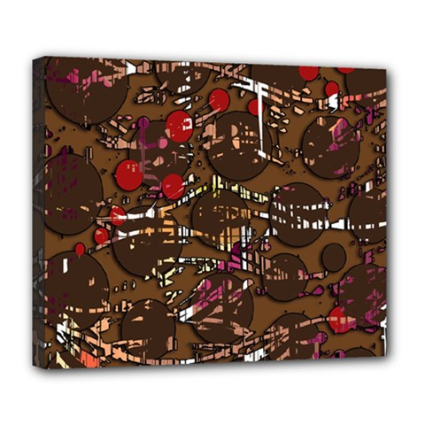 Brown Confusion Deluxe Canvas 24  X 20   by Valentinaart