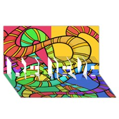 Abstrak Believe 3d Greeting Card (8x4)