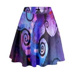 Midnight In My Mind High Waist Skirt by KirstenStar