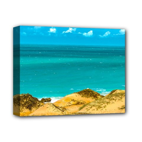 Dunes And Ocean Jericoacoara Brazil Deluxe Canvas 14  X 11  by dflcprints