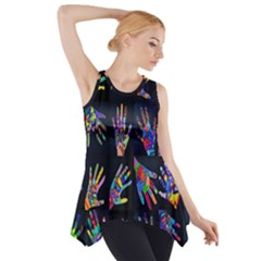 Art With Your Hand Side Drop Tank Tunic by AnjaniArt
