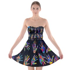 Art With Your Hand Strapless Bra Top Dress by AnjaniArt