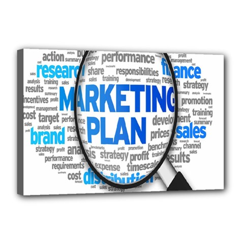 Article Market Plan Canvas 18  x 12  by AnjaniArt