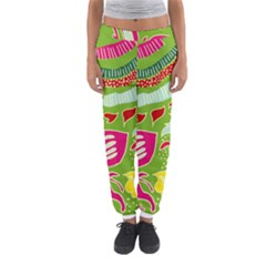 Green Organic Abstract Women s Jogger Sweatpants