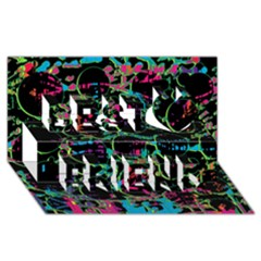 Graffiti Style Design Best Friends 3d Greeting Card (8x4) by Valentinaart