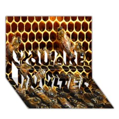 Bees On A Comb You Are Invited 3d Greeting Card (7x5) by AnjaniArt