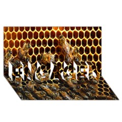 Bees On A Comb Engaged 3d Greeting Card (8x4)