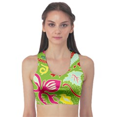 Green Organic Abstract Sports Bra by DanaeStudio