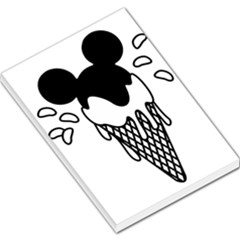 Blackandwhite Mickey Icecream Large Memo Pads