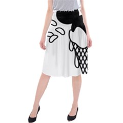 Blackandwhite Mickey Icecream Midi Beach Skirt by XOOXOO