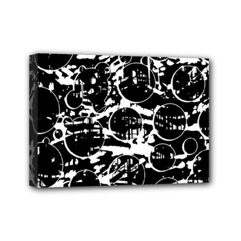 Black And White Confusion Mini Canvas 7  X 5