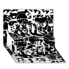 Black And White Confusion You Rock 3d Greeting Card (7x5)