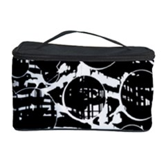Black And White Confusion Cosmetic Storage Case by Valentinaart