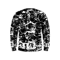 Black And White Confusion Kids  Sweatshirt