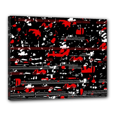 Red Symphony Canvas 20  X 16  by Valentinaart