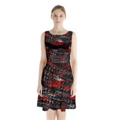Bed Eyesight Sleeveless Chiffon Waist Tie Dress by Valentinaart
