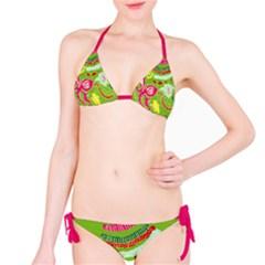 Green Organic Abstract Bikini by DanaeStudio