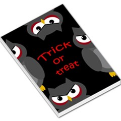 Trick Or Treat   Owls Large Memo Pads by Valentinaart