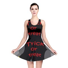 Trick Or Treat   Owls Reversible Skater Dress by Valentinaart