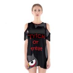 Trick Or Treat   Owls Cutout Shoulder Dress by Valentinaart